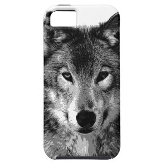 Black & White Wolf Eyes iPhone SE/5/5s Case