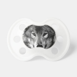 Black & White Wolf Eyes Pacifier