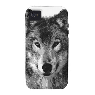 Black & White Wolf Eyes Vibe iPhone 4 Cover