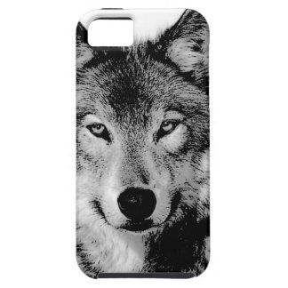 Black & White Wolf iPhone SE/5/5s Case