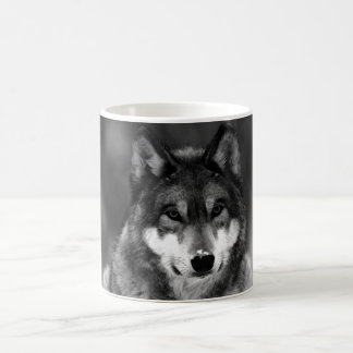 Black & White Wolf Classic White Coffee Mug