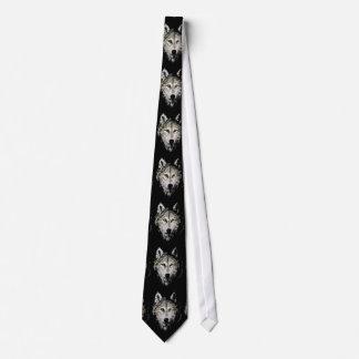 Black & White Wolf Neck Tie