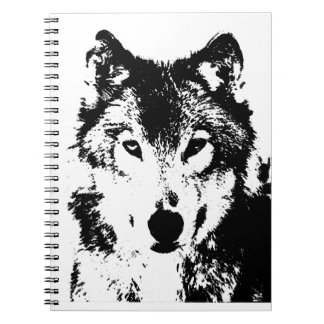 Black & White Wolf Notebook