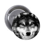 Black & White Wolf Pin