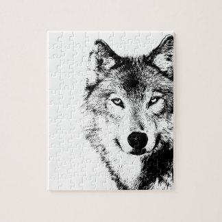 Black & White Wolf Puzzle