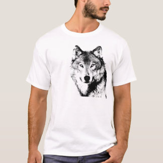 Black & White Wolf T-Shirt