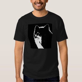 Black & White Wolf T Shirts