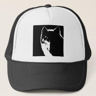 Black & White Wolf Trucker Hat