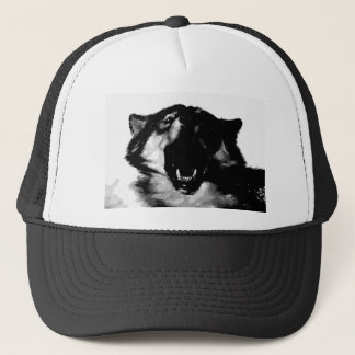 Black & White Wolf Trucker Hat