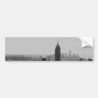 Black & White Wood Effect NYC Bumper Sticker