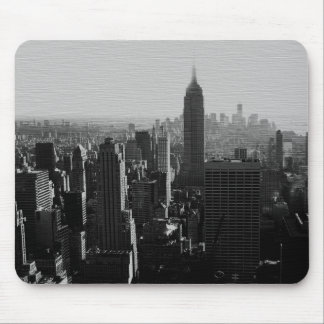 Black & White Wood Effect NYC Mouse Pad