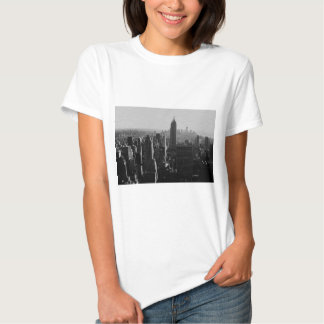 Black & White Wood Effect NYC T-Shirt