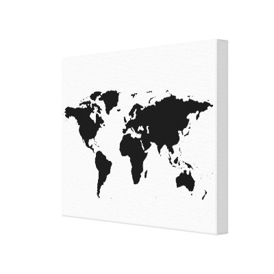 White world map on pink canvas print zazzle gumiabroncs Images