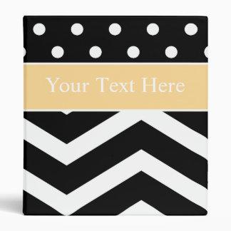 Black White Yellow Pattern Custom Binder