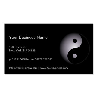 Black White Yin Yang Professional - Business Card Business Card Template