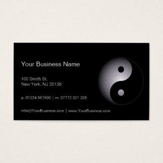 Black White Yin Yang Professional - Business Card