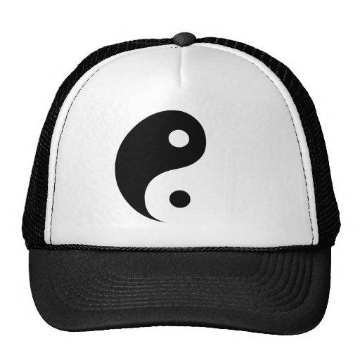 Black & White Yin Yang Symbol Mesh Hat