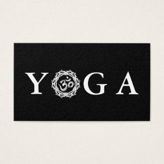 Black & White Yoga Instructor Vintage Style Business Card