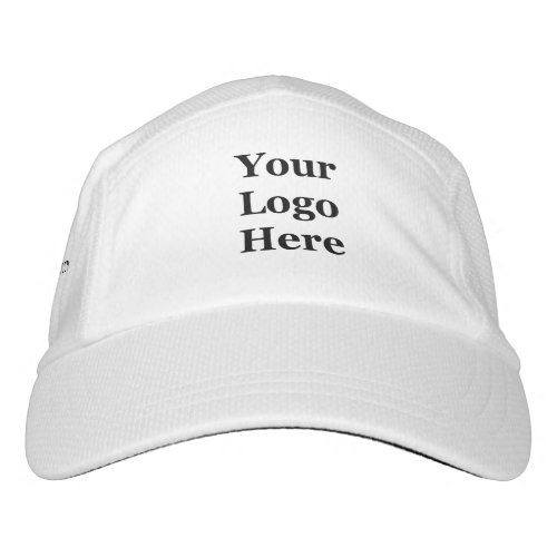 Black  White Your Logo Here and Website Template Hat