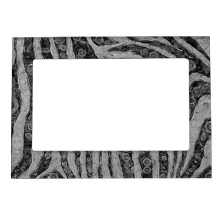 Black&White Zebra Abstract Magnetic Photo Frame