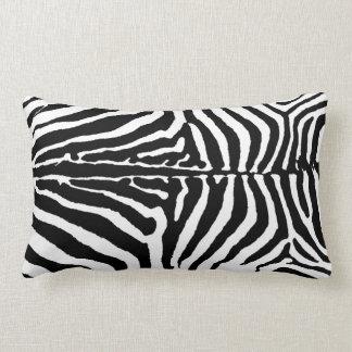 Black & White Zebra Animal Print Background Pillows