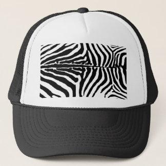 Black & White Zebra Animal Print Background Trucker Hat