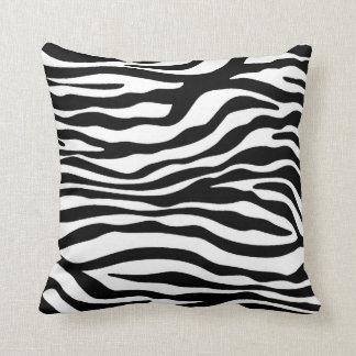 Black & White Zebra Animal Print Throw Pillow