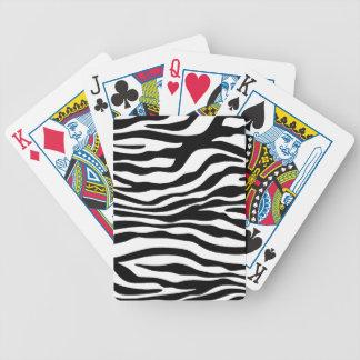 Black & White Zebra Animal Print Bicycle Playing Cards