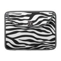 Black & White Zebra Animal Print Sleeve For MacBooks