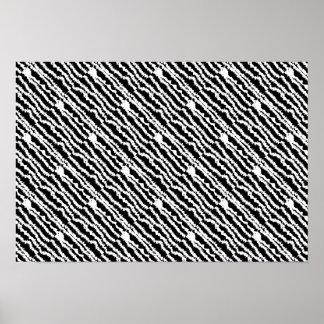 Black & White Zebra Design Poster