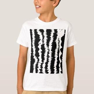 Black & White Zebra Design T-Shirt