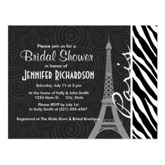 Black & White Zebra; Paris Postcard
