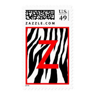 Black & White Zebra Postage