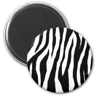 Black & White Zebra Print Magnet