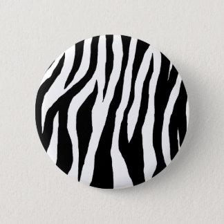 Black & White Zebra Print Pinback Button