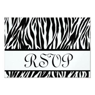 Black White Zebra Print RSVP Wedding Response Card Custom Invitation