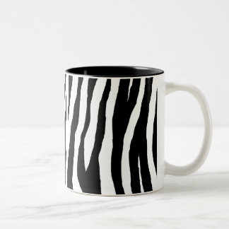 Black & White Zebra Print Two-Tone Coffee Mug