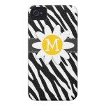Black & White Zebra; Spring Daisy iPhone 4 Cover