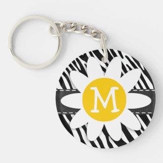 Black & White Zebra; Spring Daisy Keychains