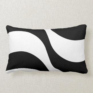 black + white zebra stripe pattern modern  pillow throw pillow