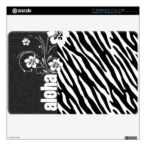 Black & White Zebra Stripes; Aloha MacBook Air Skins