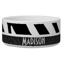 Black & White Zebra Stripes Bowl