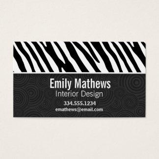 Black & White Zebra Stripes Business Card