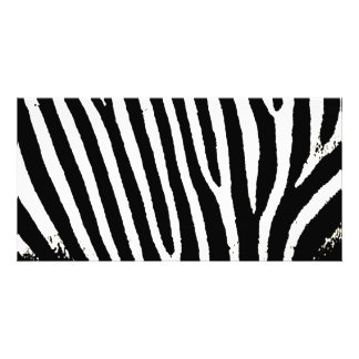 Black & White Zebra Stripes Card