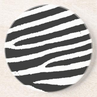 Black & White Zebra Stripes Coaster