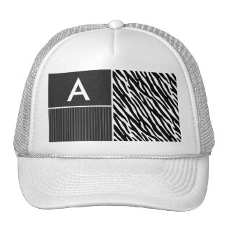 Black & White Zebra Stripes Trucker Hats