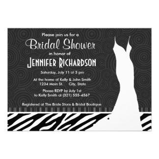 Black White Zebra Stripes Invites