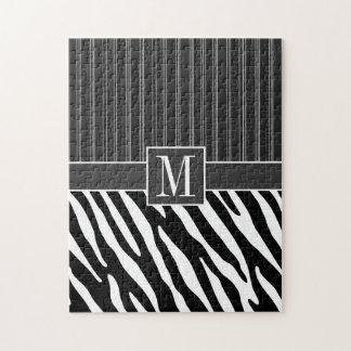 Black & White Zebra Stripes Jigsaw Puzzle