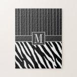 Black & White Zebra Stripes Jigsaw Puzzles
