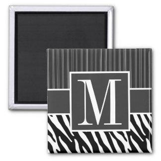 Black & White Zebra Stripes Magnet